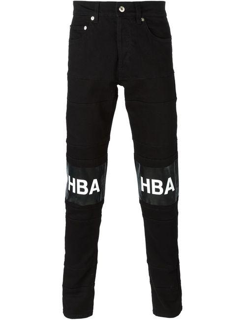 HOOD BY AIR | Чёрный Logo Patch Jeans