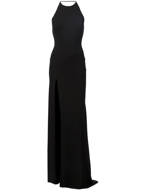 Alexandre Vauthier | Женское Чёрное Вечернее Платье С Высоким Разрезом