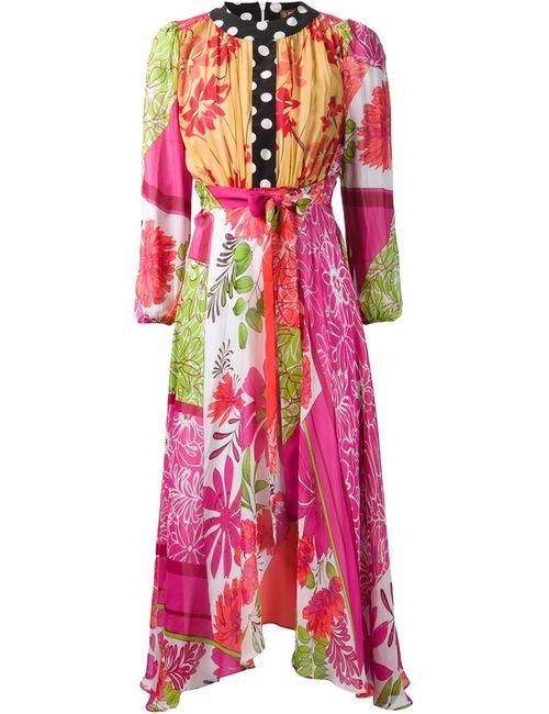 Duro Olowu | Женское Розовое Платье С Цветочным Принтом И Поясом