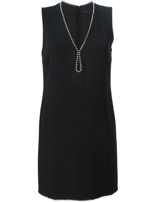 Alexander Wang | Женское Чёрное Платье Мини C V-Образным Вырезом