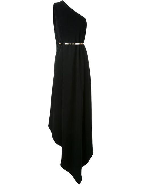Stella Mccartney | Женское Чёрное Платье На Одно Плечо