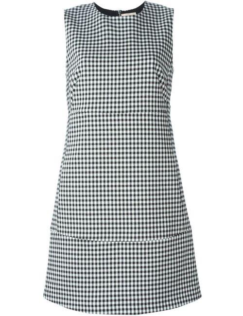 ERIKA CAVALLINI SEMICOUTURE | Женское Чёрное Платье В Клетку Без Рукавов