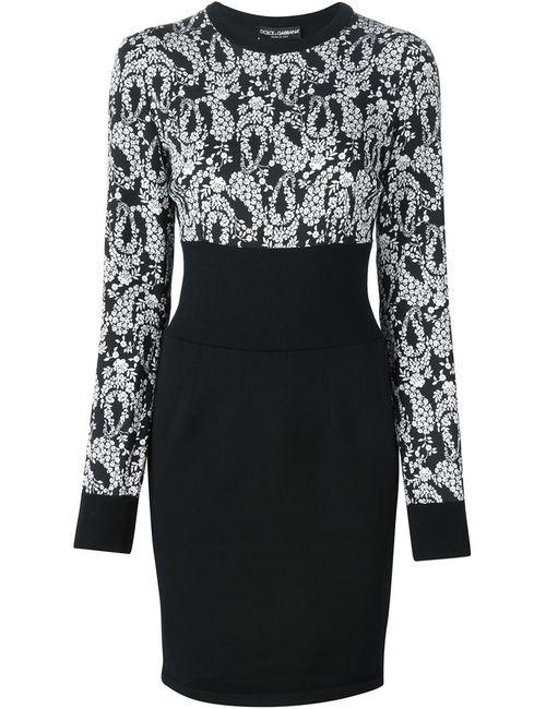 Dolce & Gabbana | Женское Чёрный Print Panelled Dress