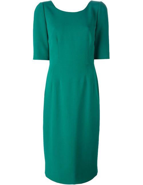 Dolce & Gabbana | Женское Зелёное Облагающее Платье-Миди
