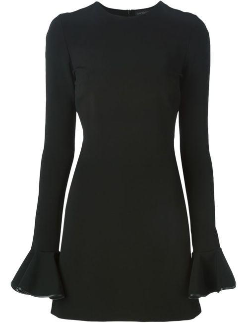 David Koma | Женское Чёрное Платье С Рукавами-Колокол