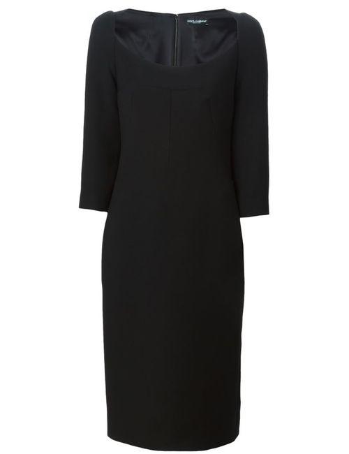 Dolce & Gabbana | Женское Чёрное Приталенное Платье
