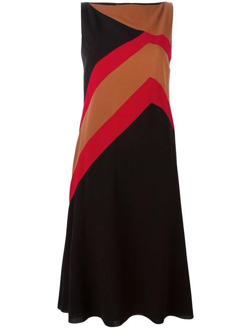 Salvatore Ferragamo | Женское Чёрное Платье С Геометрическим Принтом