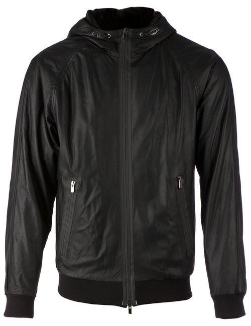 Drome | Мужская Чёрная Куртка С Капюшоном