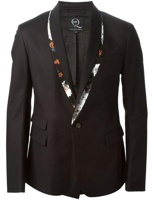 Mcq Alexander Mcqueen | Мужское Чёрный Print Trimmed Tuxedo Jacket