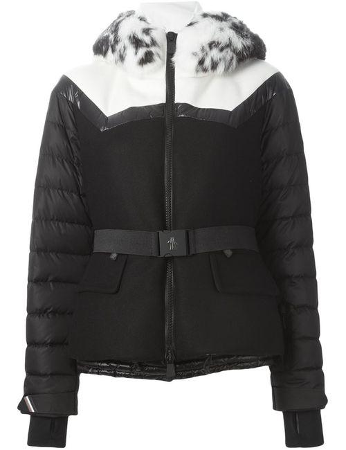 Moncler Grenoble | Женская Чёрная Дутая Куртка С Воротником Из Меха Кролика