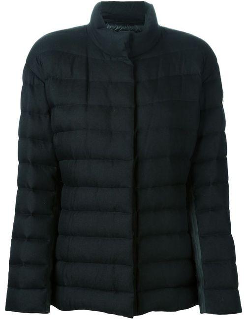Moncler Gamme Rouge | Женская Чёрная Дутая Куртка На Молнии