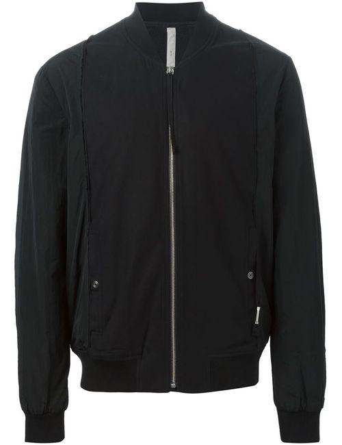 Silent Damir Doma | Мужская Чёрная Куртка-Бомбер С Панельным Дизайном