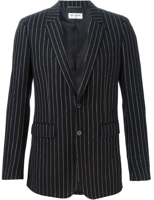 Saint Laurent | Мужское Чёрный Pinstripe Blazer