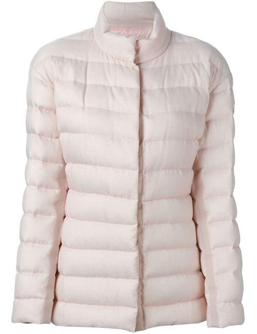 Moncler Gamme Rouge | Женская Розовая Дутая Куртка На Молнии