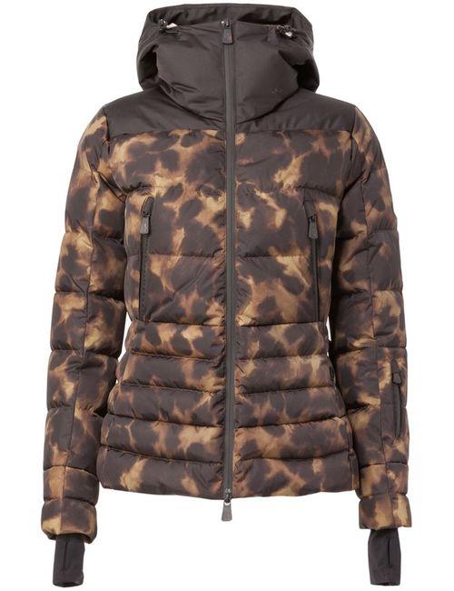 Moncler Grenoble | Женский Чёрный Леопардовый Пуховик С Капюшоном
