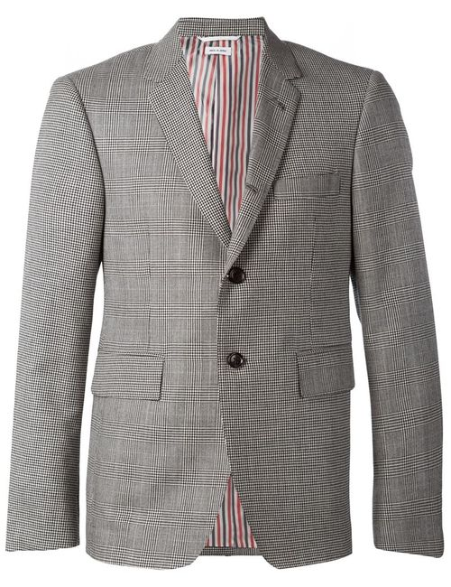 Thom Browne | Мужское Серый Houndstooth And Check Pattern Blazer