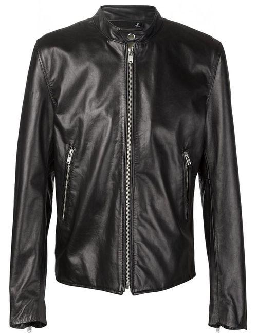 Blk Dnm | Мужское Черный Band Collar Zipped Jacket
