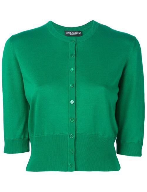 Dolce & Gabbana | Женский Зелёный Укороченный Кардиган