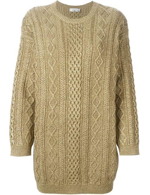 Valentino | Женское Серебристый Cable Knit Sweater