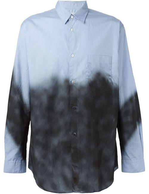 Comme Des Garcons | Мужское Синий Spray Painted Shirt
