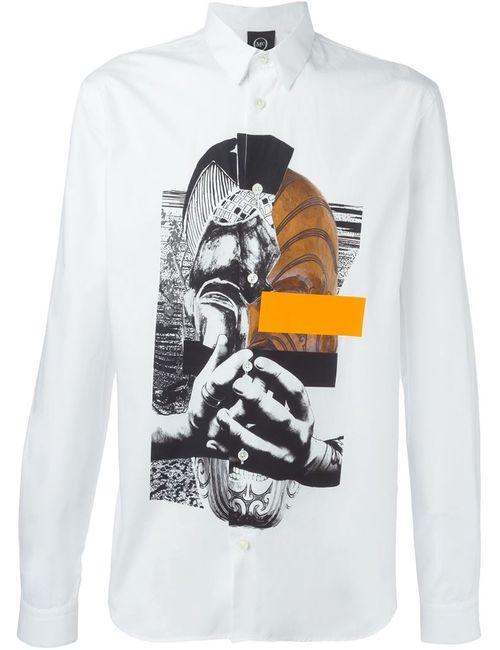 Mcq Alexander Mcqueen | Мужская Белая Рубашка Со Смешанным Принтом
