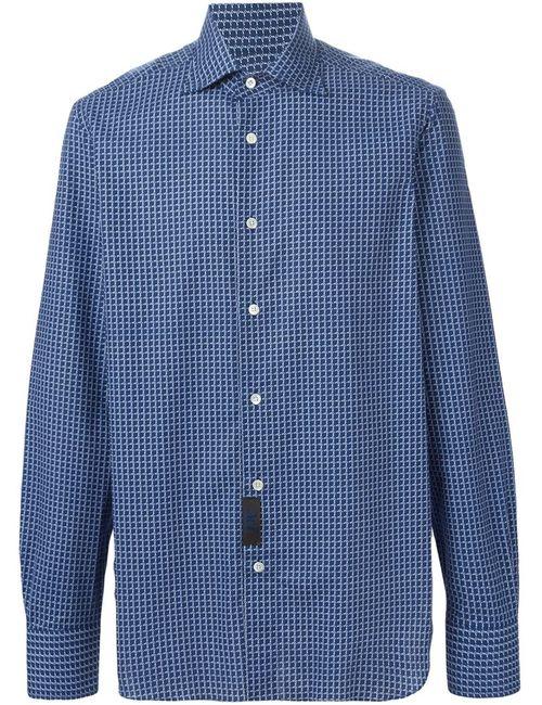 MP MASSIMO PIOMBO | Мужское Синий Printed Shirt