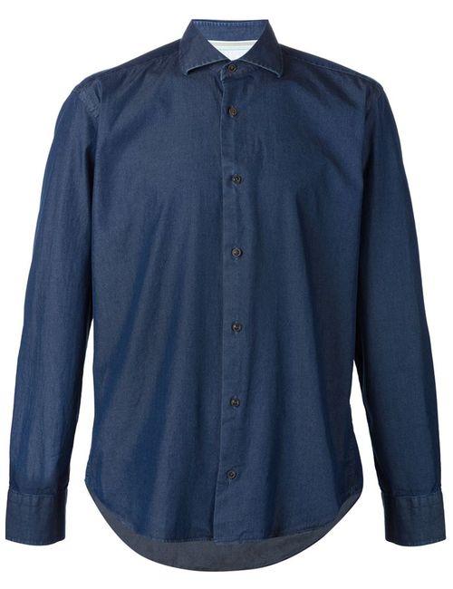 MAURIZIO BALDASSARI | Мужская Синяя Джинсовая Рубашка