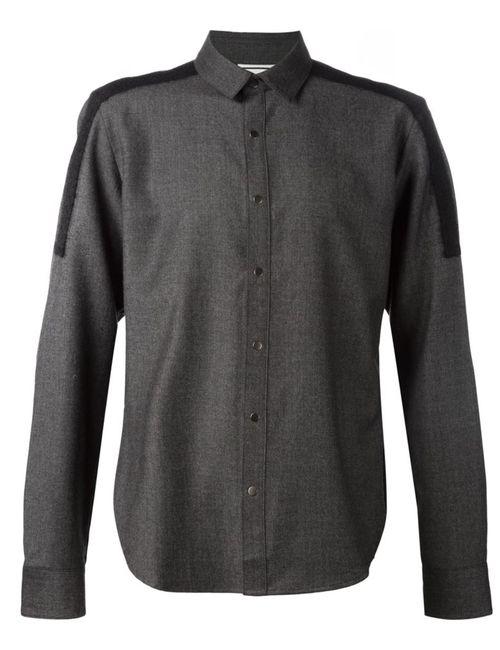 Wooyoungmi | Мужская Чёрная Рубашка С Контрастной Спинкой