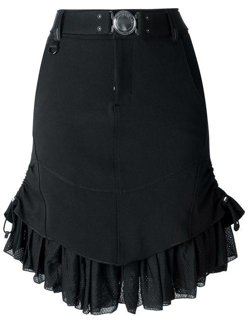 High | Женское Чёрный Ruffled Hem Skirt