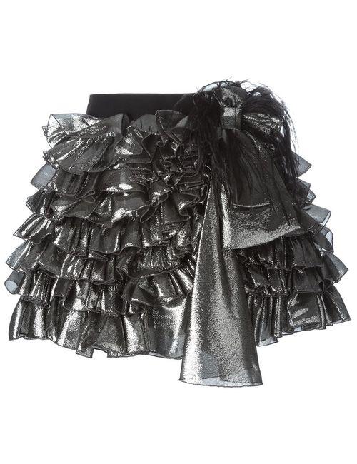 Faith Connexion | Женское Чёрный Ruffled Mini Skirt