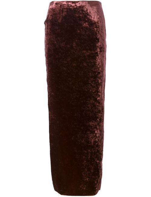 Haider Ackermann | Женское Красный Velvet Maxi Skirt