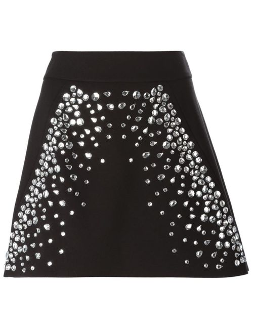 Michael Michael Kors | Женское Чёрный Embellished Mini Skirt