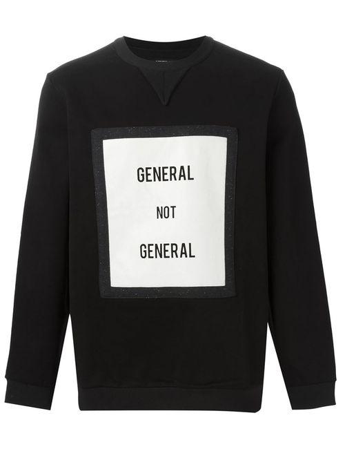 General Idea | Мужская Чёрная Толстовка General Not General
