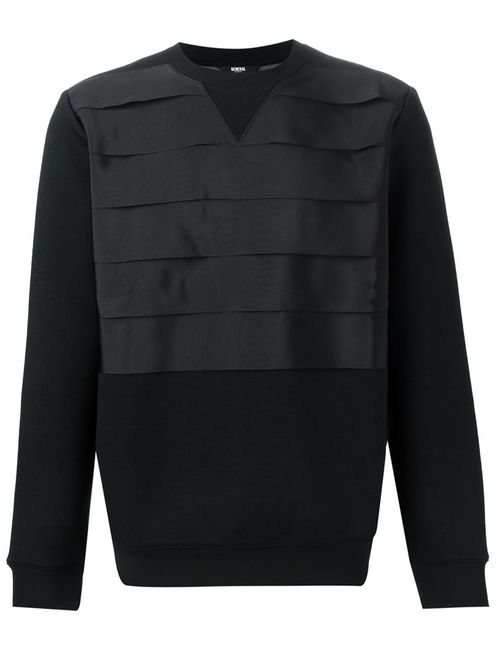 General Idea | Мужское Чёрный Pleated Panel Sweatshirt
