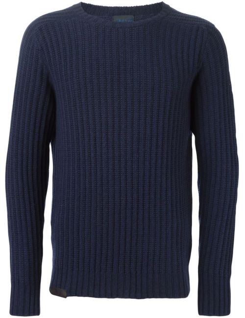 MP MASSIMO PIOMBO | Мужское Синий Ribbed Sweater