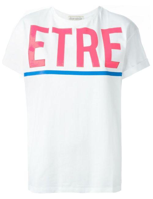 Etre Cecile | Женская Белая Футболка С Принтом