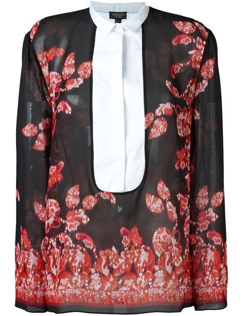 Giambattista Valli | Женская Черный Блузка С Цветочным Принтом