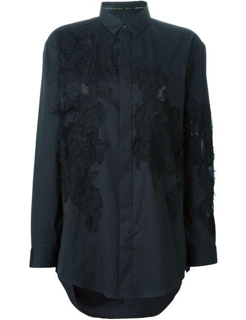 Barbara Bui | Женская Чёрная Рубашка С Кружевными Панелями