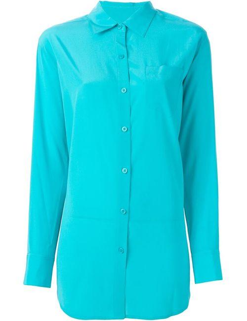 DKNY | Женская Синяя Рубашка С Нагрудным Карманом