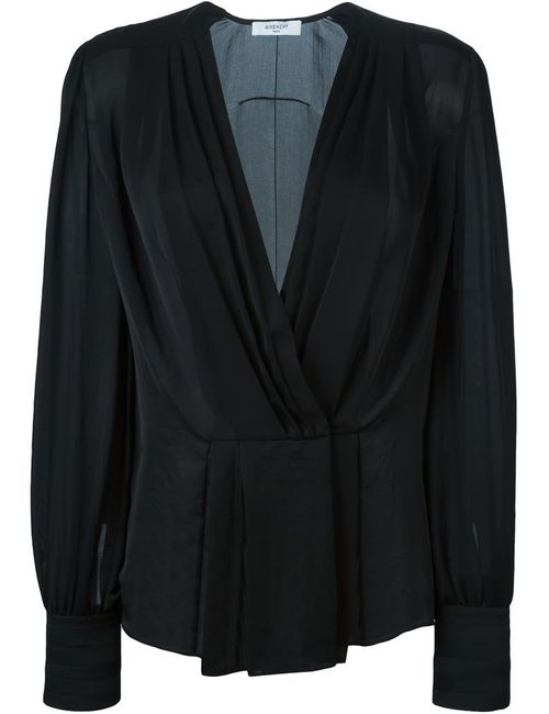 Givenchy | Женское Чёрный Sheer Pleated Blouse