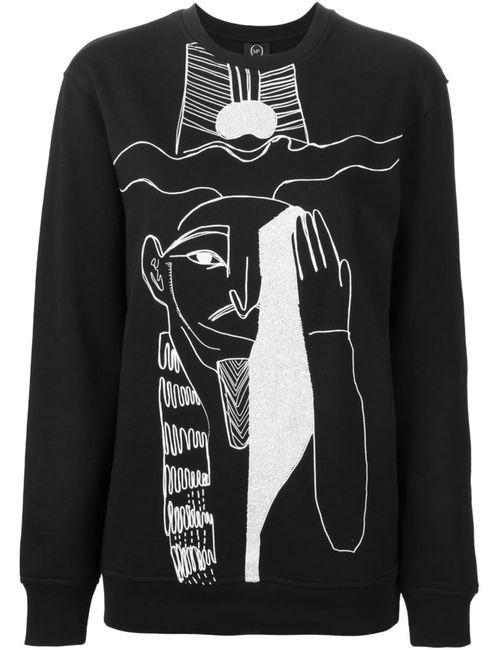 Mcq Alexander Mcqueen | Женская Чёрная Толстовка С Принтом Египетский Иллюстраций