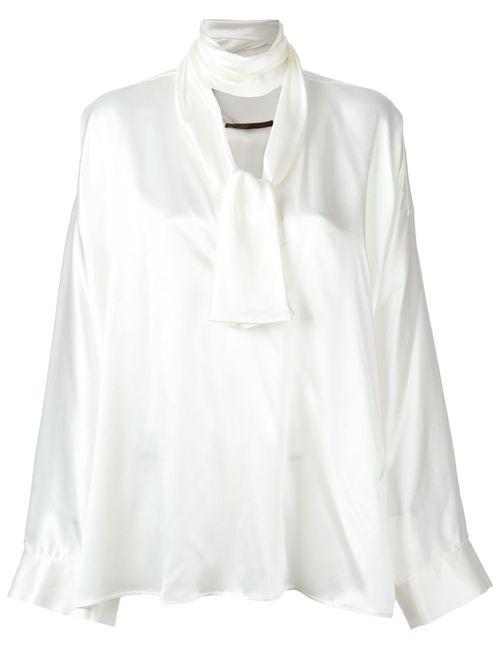 Haider Ackermann | Женская Белая Блузка С Завязками На Бант