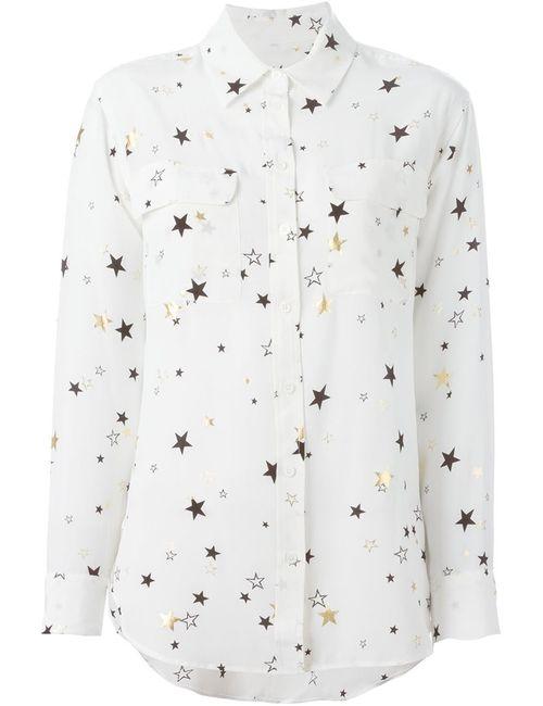 Equipment | Женская Белая Рубашка Со Звездами