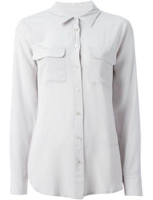 Equipment | Женская Серая Рубашка С Нагрудными Карманами