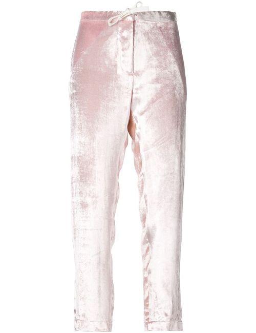 Rosie Assoulin   Розовый Velvet Trousers