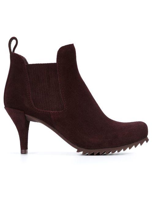 Pedro García | Женские Красные Ботинки По Щиколотку С Эластичными Панелями