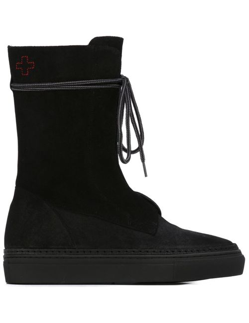 A.F.Vandevorst | Черный Lace Up Flat Boots