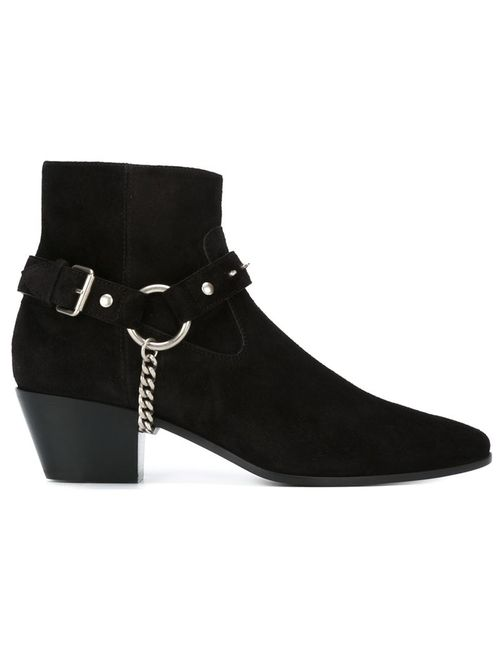 Saint Laurent | Женское Черный Wyatt Ankle Boots