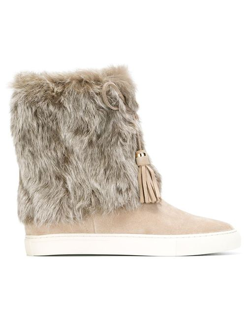 Tory Burch | Nude & Neutrals Fur Trimmed Boots