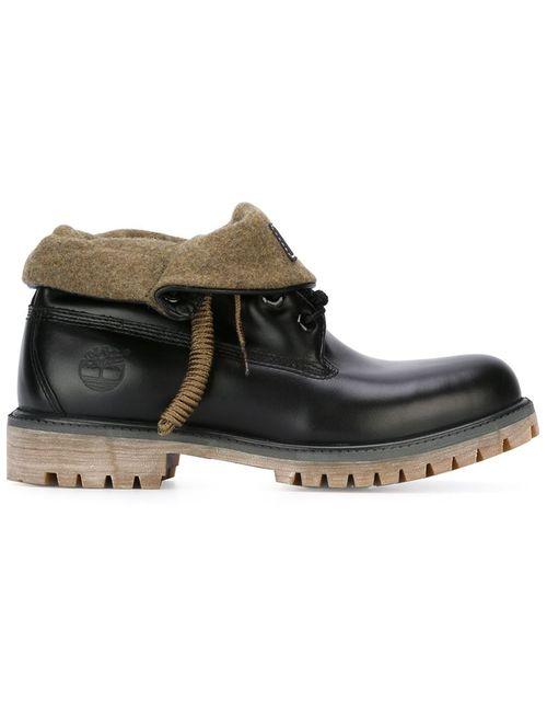 Timberland | Мужские Чёрные Ботинки На Шнуровке
